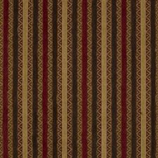 Brown/Burgundy/Red Stripes Drapery and Upholstery Fabric by Kravet