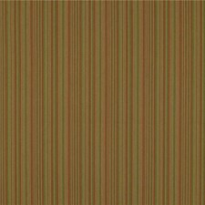 Green/Rust/Beige Stripes Drapery and Upholstery Fabric by Kravet