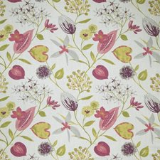 Raspberry Floral Drapery and Upholstery Fabric by Fabricut