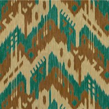 Turquoise Ikat Drapery and Upholstery Fabric by Kravet