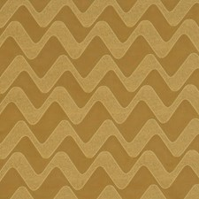 Gold Flamestitch Drapery and Upholstery Fabric by Fabricut