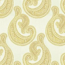 White Paisley Drapery and Upholstery Fabric by Kravet