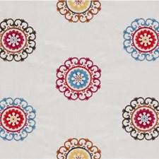 White/Blue/Burgundy Modern Drapery and Upholstery Fabric by Kravet
