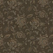 Brown/Light Blue/Beige Botanical Drapery and Upholstery Fabric by Kravet