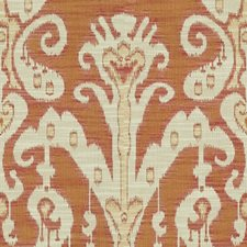 Orange/Pink/White Ethnic Drapery and Upholstery Fabric by Kravet