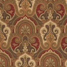 Brown/Burgundy/Red Damask Drapery and Upholstery Fabric by Kravet