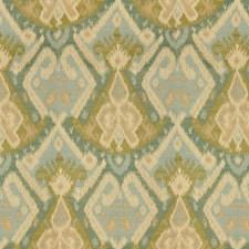 Beige/Light Green/Light Blue Ikat Drapery and Upholstery Fabric by Kravet