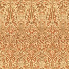 Beige/Orange Paisley Drapery and Upholstery Fabric by Kravet