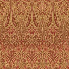 Burgundy/Red/Yellow Paisley Drapery and Upholstery Fabric by Kravet