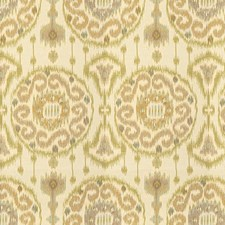 Beige/Green/Light Blue Ethnic Drapery and Upholstery Fabric by Kravet