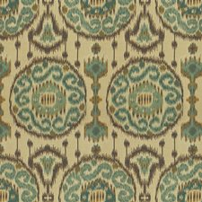 Beige/Light Blue/Brown Ethnic Drapery and Upholstery Fabric by Kravet