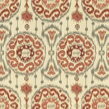 Beige/Burgundy/Red Ethnic Drapery and Upholstery Fabric by Kravet