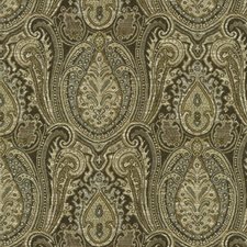 Beige/Blue/White Ethnic Drapery and Upholstery Fabric by Kravet