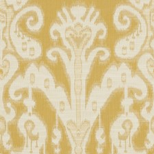 Beige/Yellow Ethnic Drapery and Upholstery Fabric by Kravet