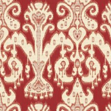 Yellow/Burgundy/Red Ethnic Drapery and Upholstery Fabric by Kravet