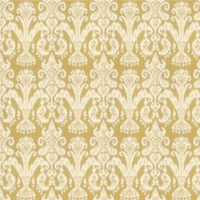 Yellow/Beige Ethnic Drapery and Upholstery Fabric by Kravet