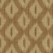 Brown/White Ikat Drapery and Upholstery Fabric by Kravet
