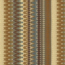 Beige/Purple/Blue Ikat Drapery and Upholstery Fabric by Kravet