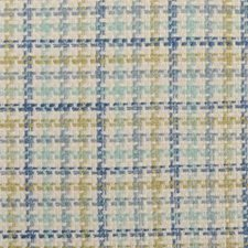 Natural/Blue Basketweave Drapery and Upholstery Fabric by Duralee