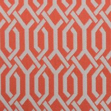 Coral Geometric Drapery and Upholstery Fabric by Duralee
