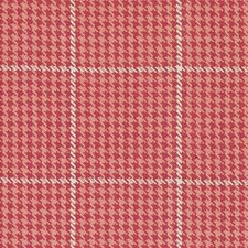 Red Pepper Houndstooth Drapery and Upholstery Fabric by Duralee