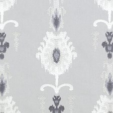 Pewter Embroidery Drapery and Upholstery Fabric by Duralee