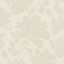 Ivory Floral Medium Drapery and Upholstery Fabric by Duralee