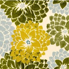 Blue Green Botanical Drapery and Upholstery Fabric by Kravet