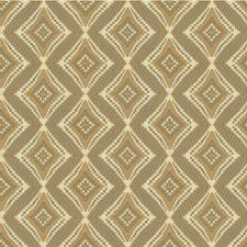 Ivory/Gold/Grey Diamond Drapery and Upholstery Fabric by Kravet