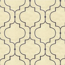 Beige/Blue Geometric Drapery and Upholstery Fabric by Kravet