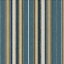 Beige/Blue Stripes Drapery and Upholstery Fabric by Kravet
