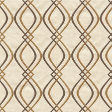 Beige/Taupe/Gold Modern Drapery and Upholstery Fabric by Kravet