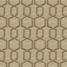 Camel/Wheat/Ivory Geometric Drapery and Upholstery Fabric by Kravet