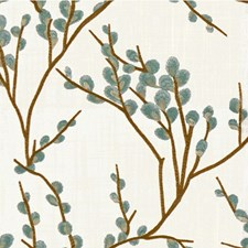 White/Spa/Wheat Botanical Drapery and Upholstery Fabric by Kravet