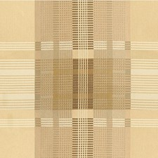 Beige/Taupe Plaid Drapery and Upholstery Fabric by Kravet