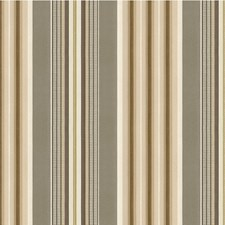 Grey/Beige/Brown Stripes Drapery and Upholstery Fabric by Kravet