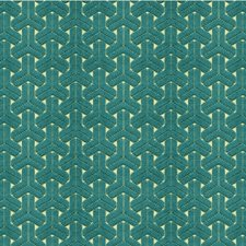 Teal Contemporary Drapery and Upholstery Fabric by Kravet