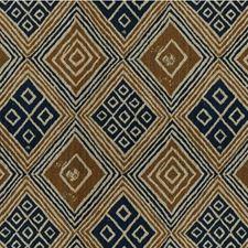 Beige/Indigo/Taupe Diamond Drapery and Upholstery Fabric by Kravet