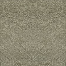 Grey Botanical Drapery and Upholstery Fabric by Kravet