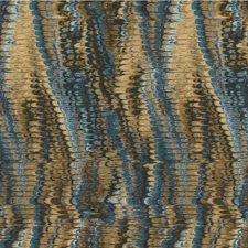Blue/Beige/Brown Ikat Drapery and Upholstery Fabric by Kravet