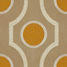 Beige/Gold Geometric Drapery and Upholstery Fabric by Kravet