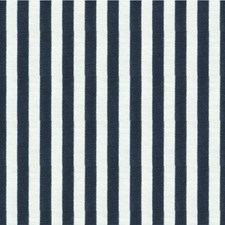 Navy Stripes Drapery and Upholstery Fabric by Kravet