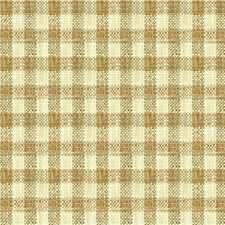Taupe/Ivory Check Drapery and Upholstery Fabric by Kravet