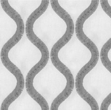 Ivory/Grey Geometric Drapery and Upholstery Fabric by Kravet