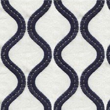 Ivory/Blue Geometric Drapery and Upholstery Fabric by Kravet