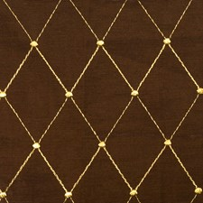 Coffee Embroidery Drapery and Upholstery Fabric by Fabricut