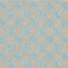 Beige/Light Blue/Silver Geometric Drapery and Upholstery Fabric by Kravet