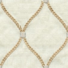 Ivory/Beige/White Geometric Drapery and Upholstery Fabric by Kravet