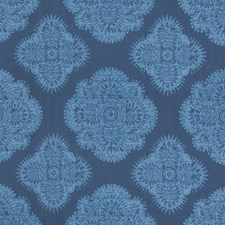 Indigo Ethnic Drapery and Upholstery Fabric by Kravet