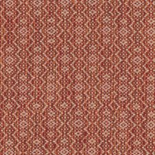 Red/Orange/White Geometric Drapery and Upholstery Fabric by Kravet